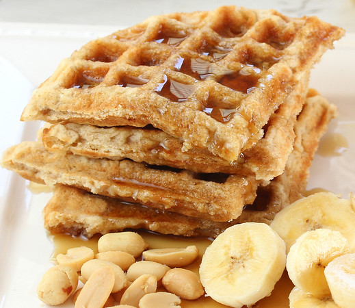 Peanut butter waffles