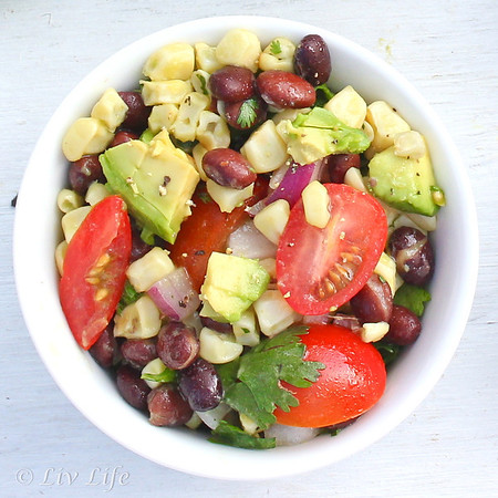 California Corn Salad, Avocado, Tomato, Black Beans