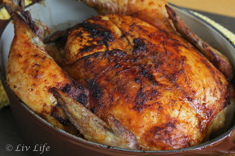 Whole chicken, roasted chicken, smoked paprika