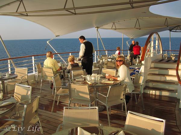 Veranda Café, Seabourn, Spirit, Legend