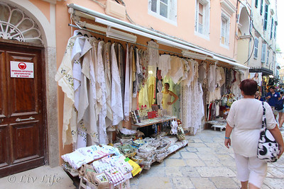 Linens, Corfu, Greece