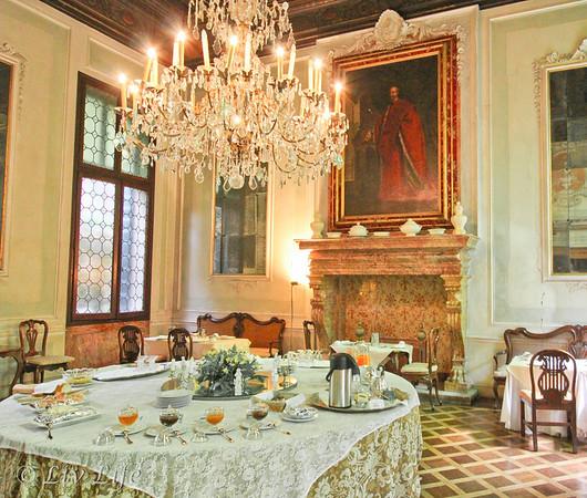 Palazzo Pisani, Venice Italy, Breakfast