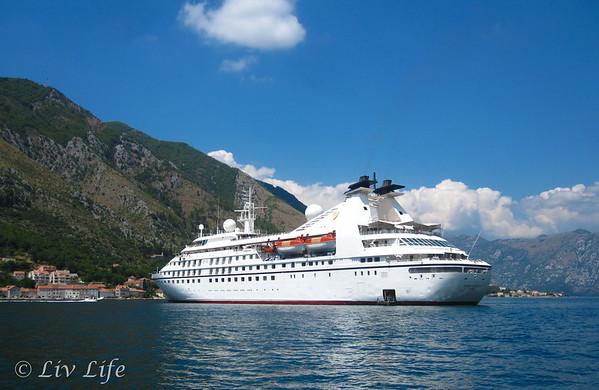 Seabourn Spirit, kotor, Montenegro, Cruise