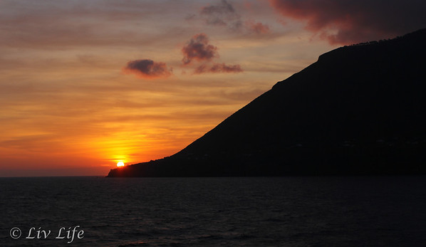 Aeolian Islands a sunrise, Seabourn Legend