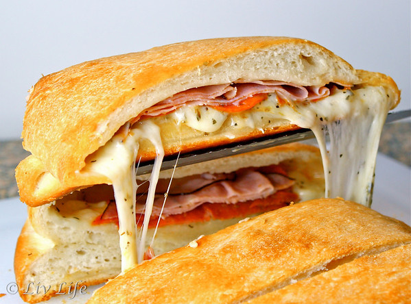 Stromboli with layered meats and cheese