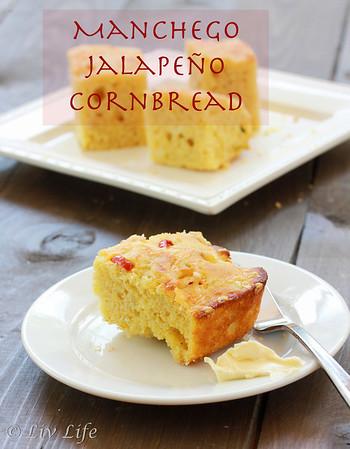 Jalapeño Manchego Corn Bread | Liv Life
