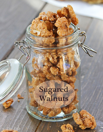 sugared walnuts and a walnut roundup in honor of national walnut day