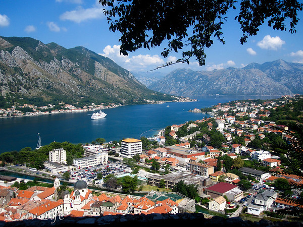 Bay of Kotor after hiking to the fortress.  Sunning views