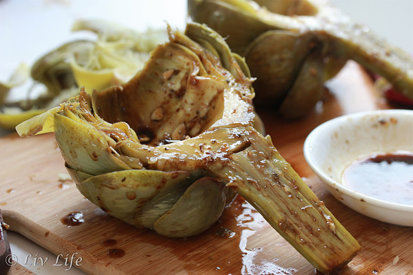 Grilled Artichokes with Balsamic Vinaigrette