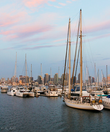 San Diego Marina at Sunset