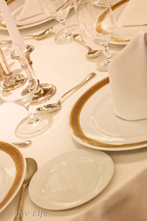 Formal Table Setting, china, silver and linens