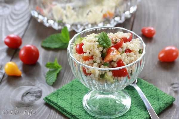Lemony Israeli Couscous Salad with Mint