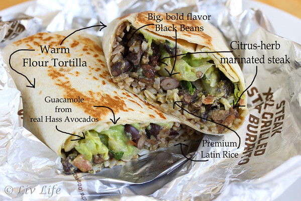 Cantina Steak Burrito ingredients