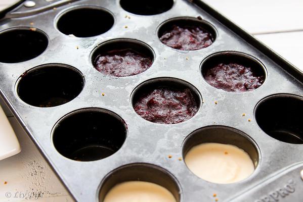 Vegan Blueberry Cranberry Mini Cashew Icebox Cheesecakes